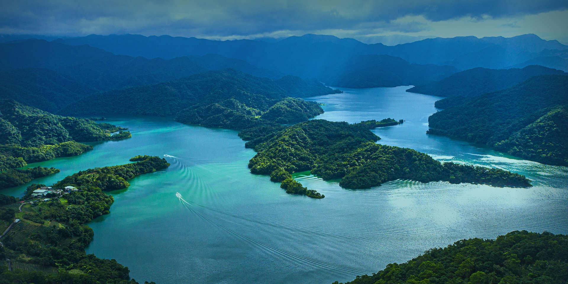 千島湖を望む